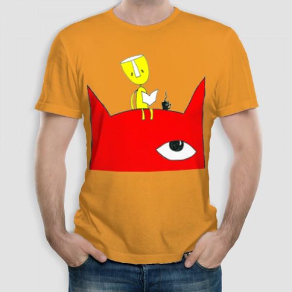 Κόκκινος Γάτος | Τ-shirt Ανδρικό - Unisex