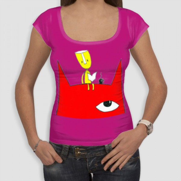 Κόκκινος Γάτος | Τ-shirt Γυναικείο - Smile